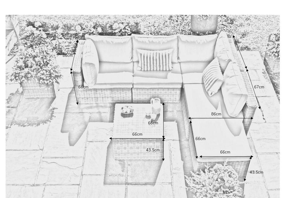 סלון פינתי ראטן עגול דגם FLORIDA - תמונה 6