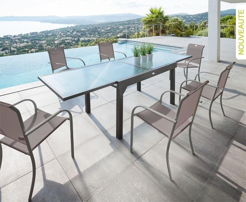 עדכני שולחן נפתח אלומיניום - שולחן לגינה | הום גרדן רהיטי גינה RO-23