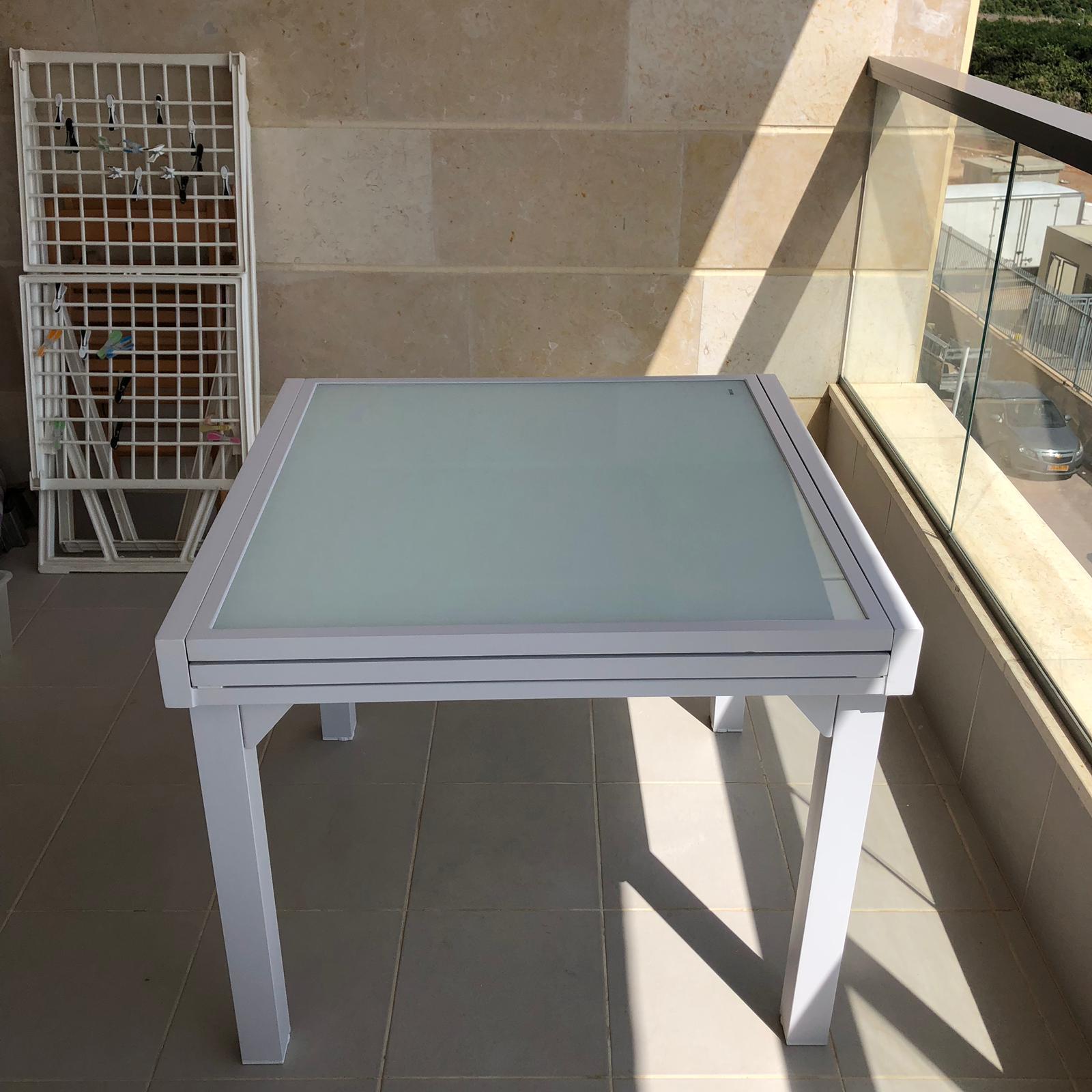שולחן אלומיניום נפתח 90*90180 מגוון צבעים