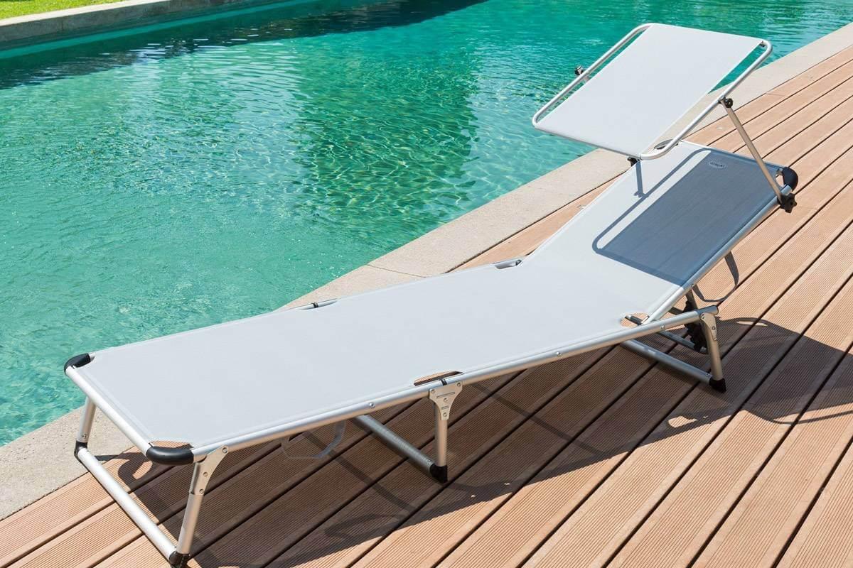 מיטת שיזוף עם גגון הצללה דגם CYPRUS