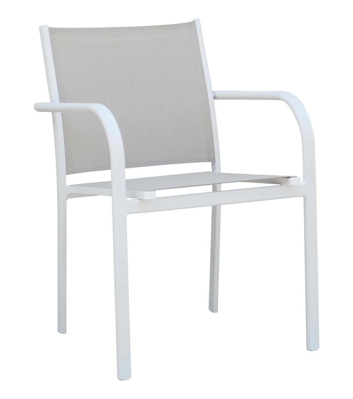 כסא אלומיניום בשילוב טקסליין דגם MAYA