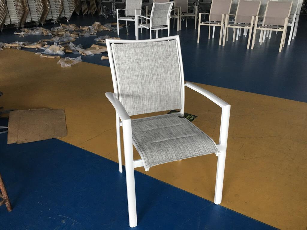 כסא אלומיניום מרופד דגם MAJORQUE
