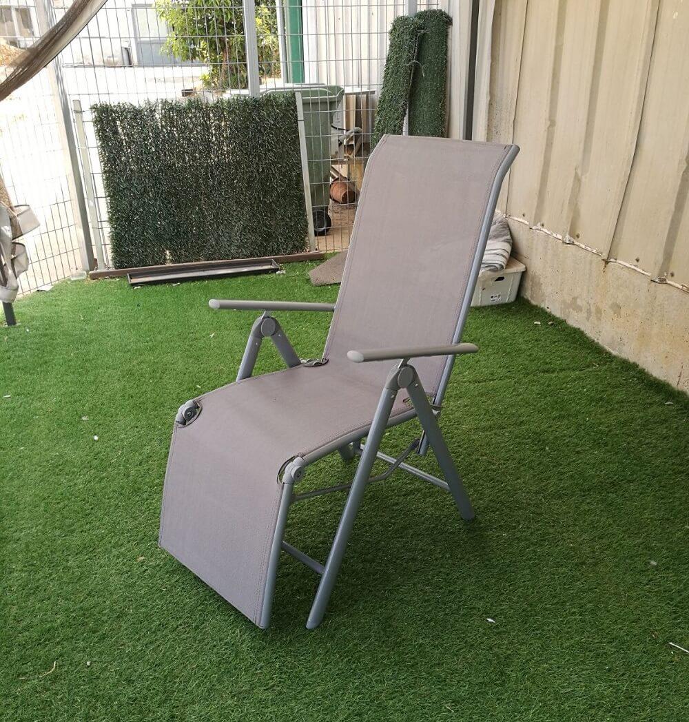 כסא נוח מאלומיניום מתקפל