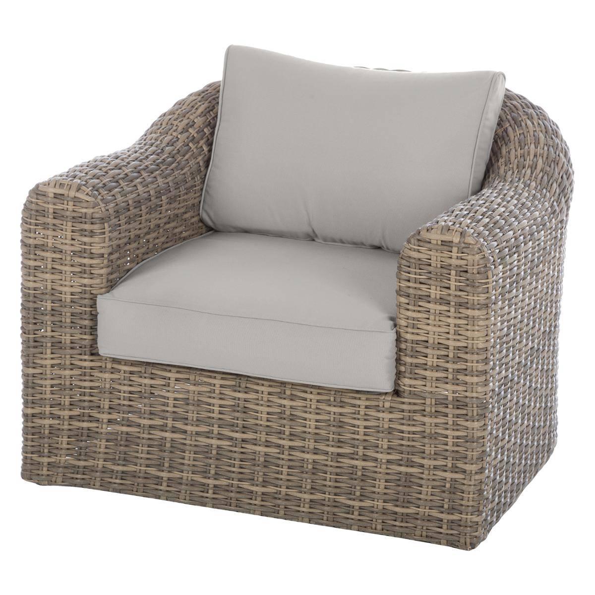 מערכת ישיבה פינתית מראטן דגם MOOREA כולל כורסא בודדת צבע טבעי - תמונה 3