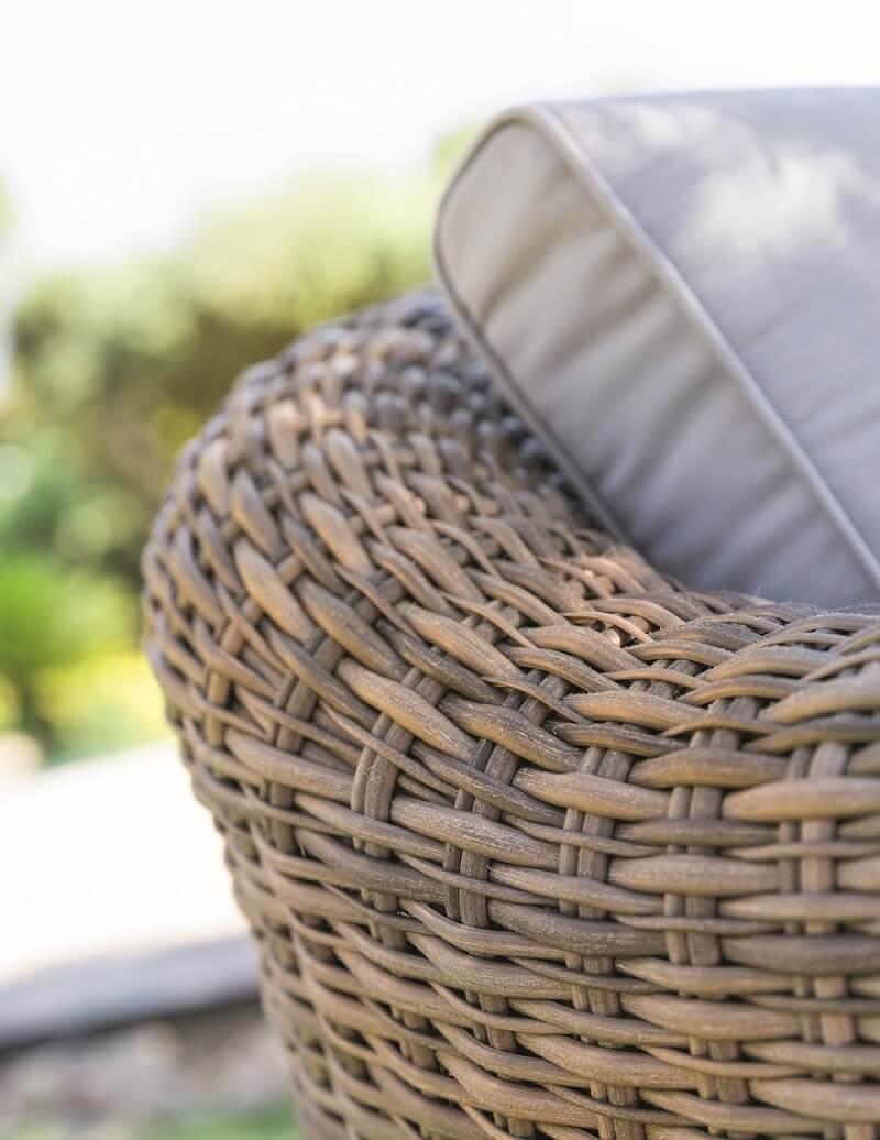 מערכת ישיבה פינתית מראטן דגם MOOREA כולל כורסא בודדת צבע טבעי - תמונה 4