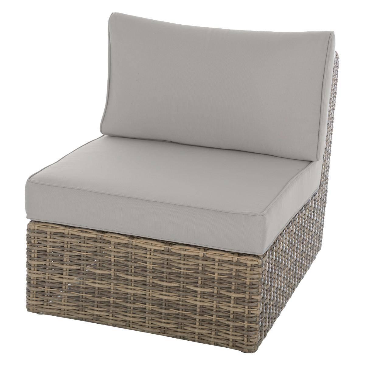 מערכת ישיבה פינתית מראטן דגם MOOREA כולל כורסא בודדת צבע טבעי