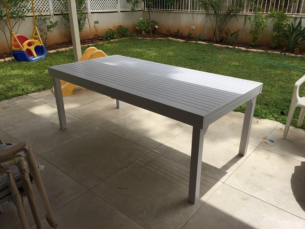 שולחן %100 אלומיניום נפתח 100X200\320 לבן