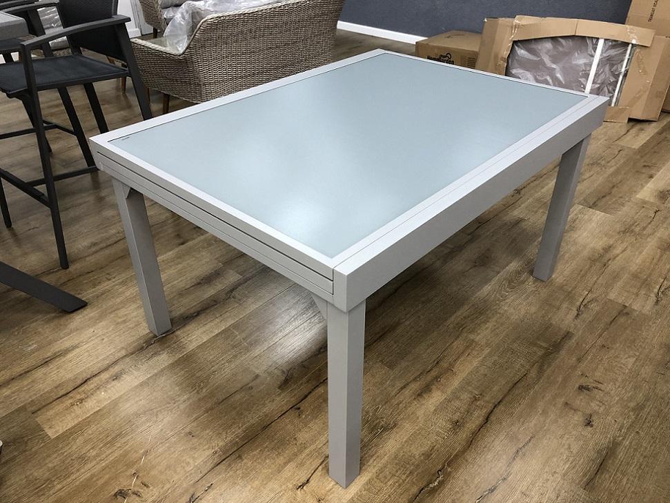 שולחן אלומיניום נפתח 100x135/270 במגוון צבעים לא כולל כסאות