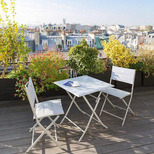 שולחן אלומיניום מתקפל למרפסת 71x71 במגוון צבעים