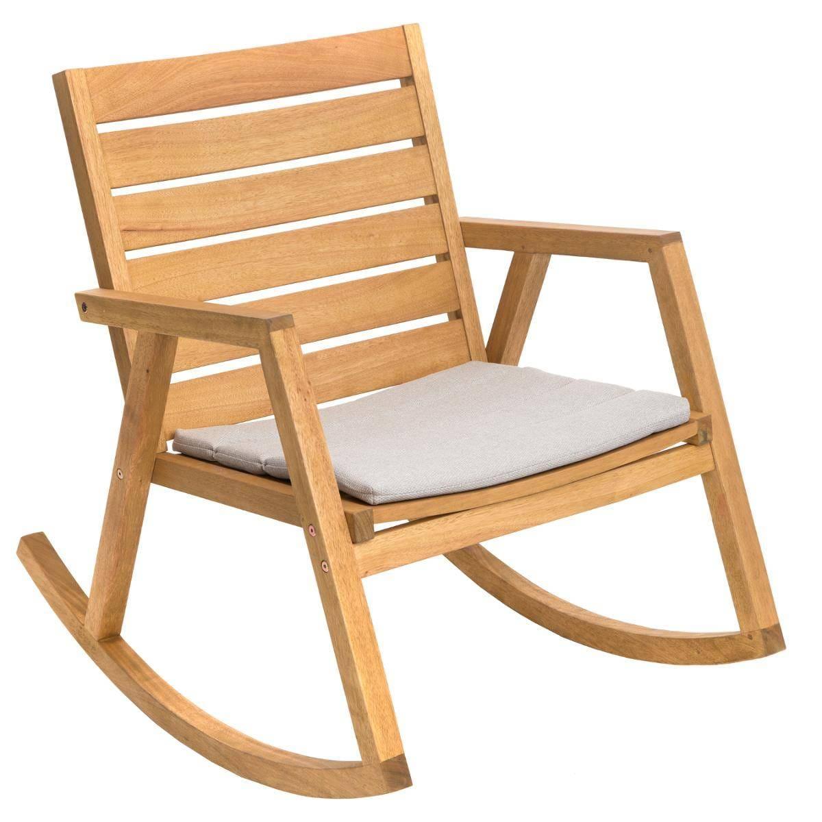 כסא מתנדנד מעץ מבית HESPERIDE