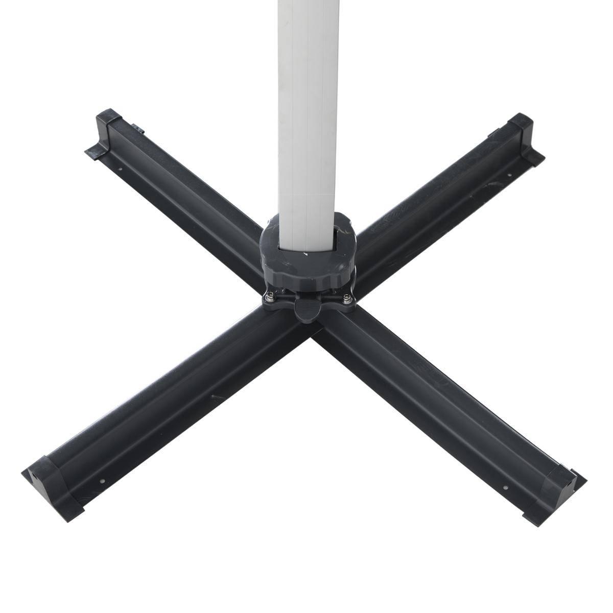 שמשייה אלומיניום רגל צד 3X3 עם LED דגם ECUADOR