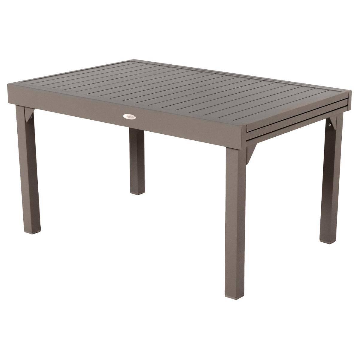 שולחן נפתח %100 אלומיניום 90X135/270 צבע מוקה