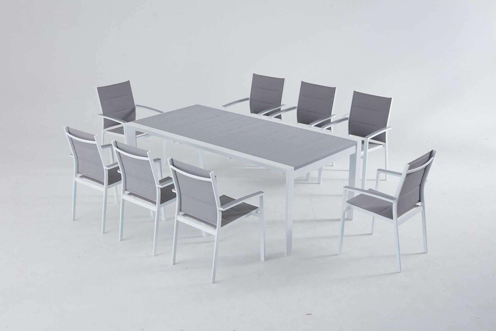 מבצע ! שולחן %100 אלומיניום 104X200/300 כולל 6 כסאות