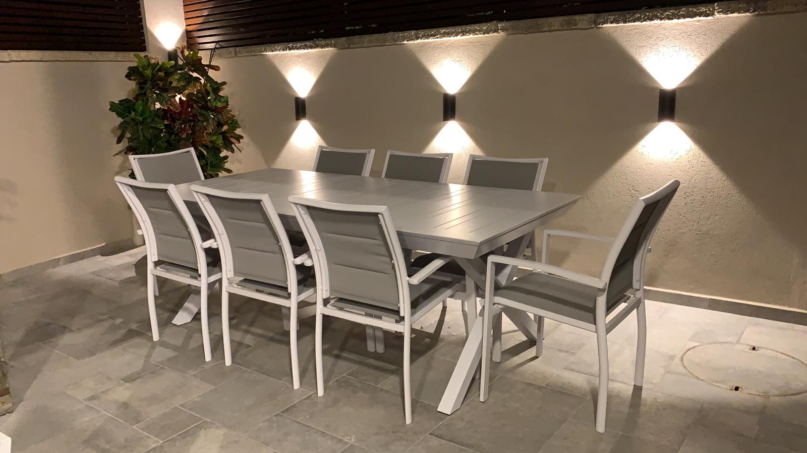 שולחן נפתח לגינה דגם X מידות 216x100 נפתח ל-297 במגוון צבעים