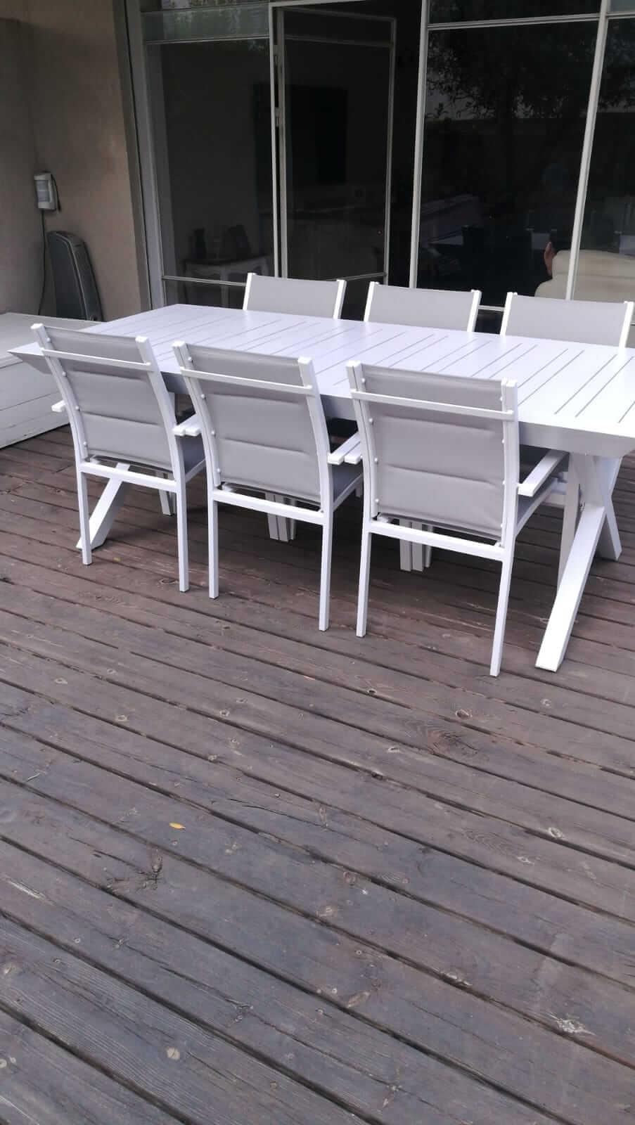 שולחן נפתח לגינה דגם X