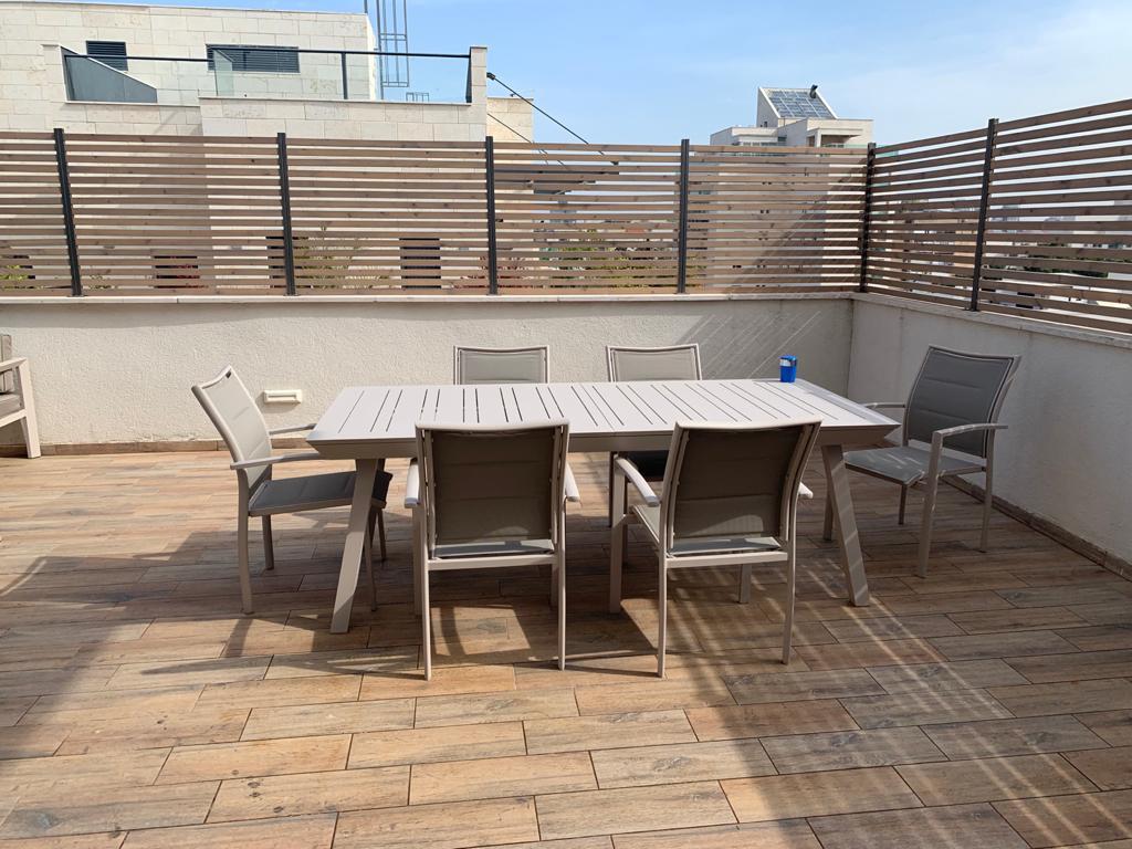 שולחן אלומיניום נפתח לגינה דגם אמנדה 100x216/297