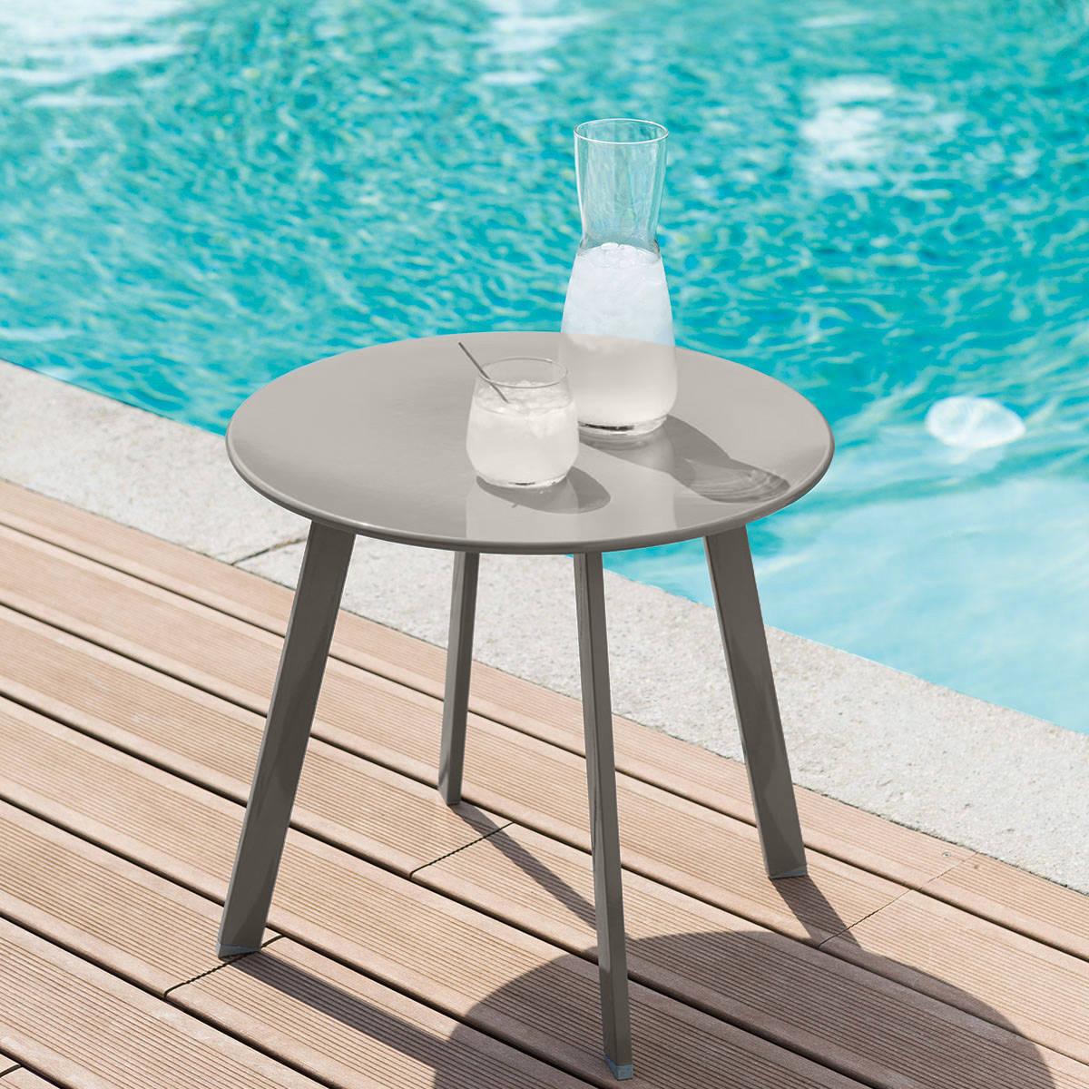 שולחן נמוך דגם SANOA קוטר 50 סמ מוקה