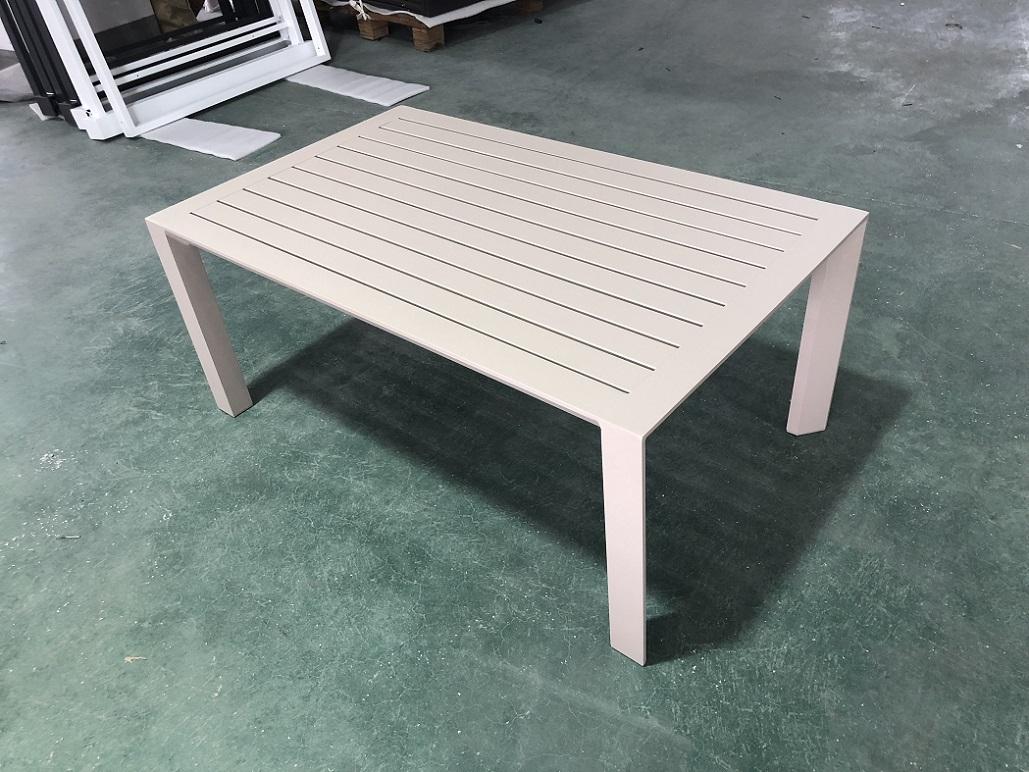 שולחן נמוך %100 אלומיניום 100x61 לבן או בג