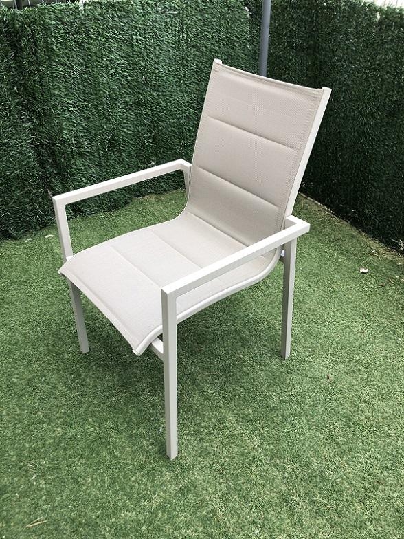 כסא מאלומיניום עם בד כפול דגם SEVILLA