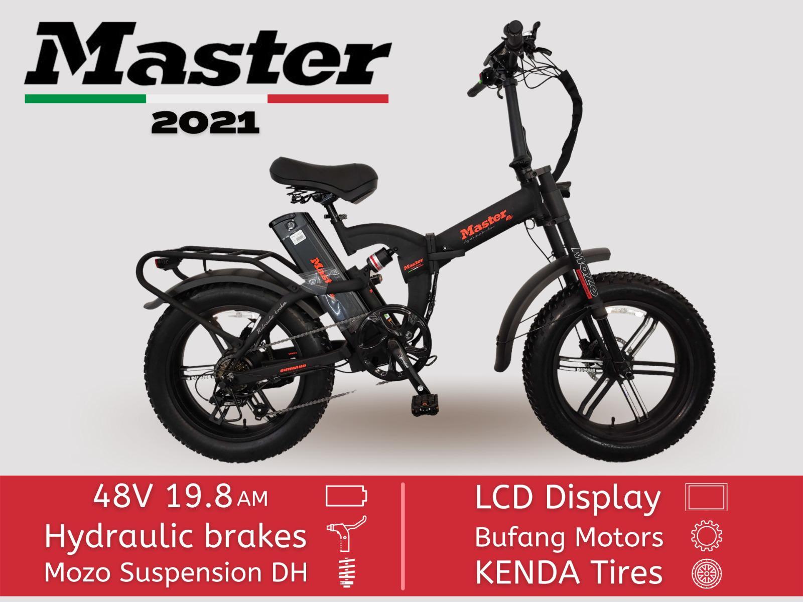 אופניים חשמליים MASTER 48w 20a