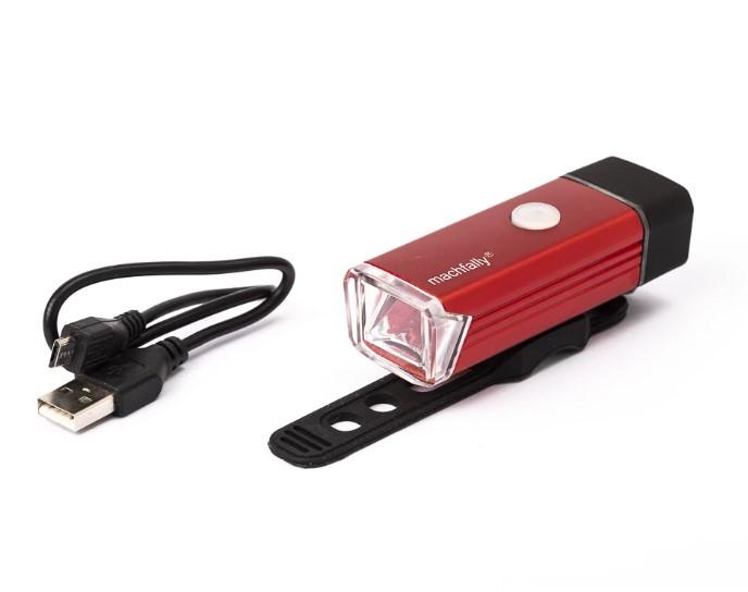 פנס קדמי נטען USB