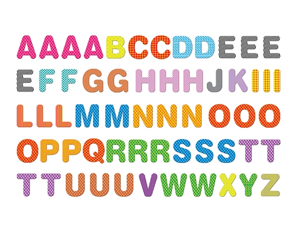 Magnetic English Letters