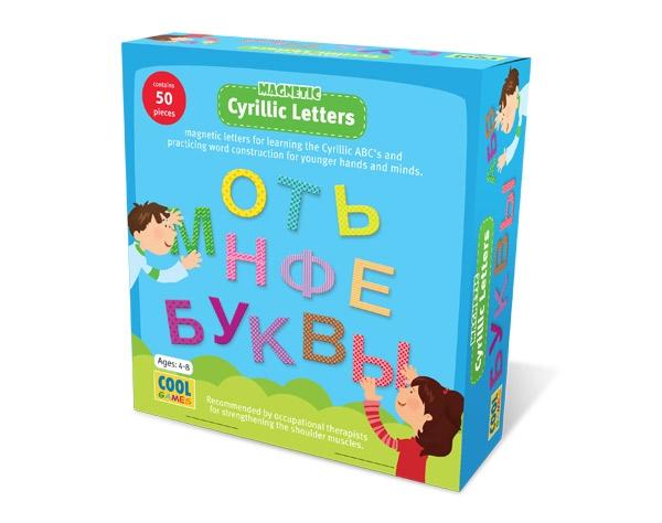 Lettres de l'Alphabet Magnétiques Cyrillique