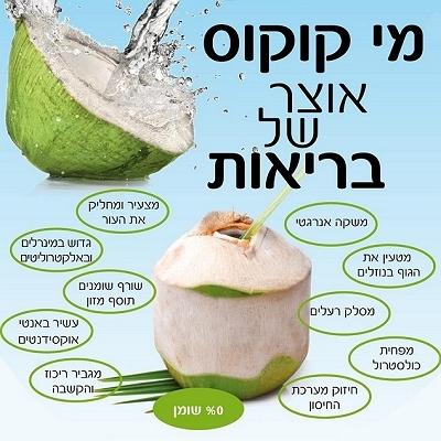 אורגני-שני ארגזים המכילים 18 אגוזי קוקוס תאילנדי צעיר כולל משלוח עד הבית