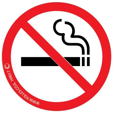 H9017 מדבקה אסור לעשן קוטר 8 ס''מ