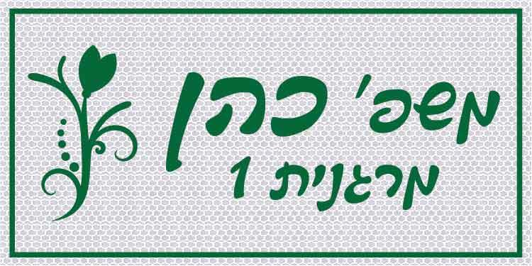 שלט אלומיניום  לבית מחזיר אור 20/40 ס''מ B2004