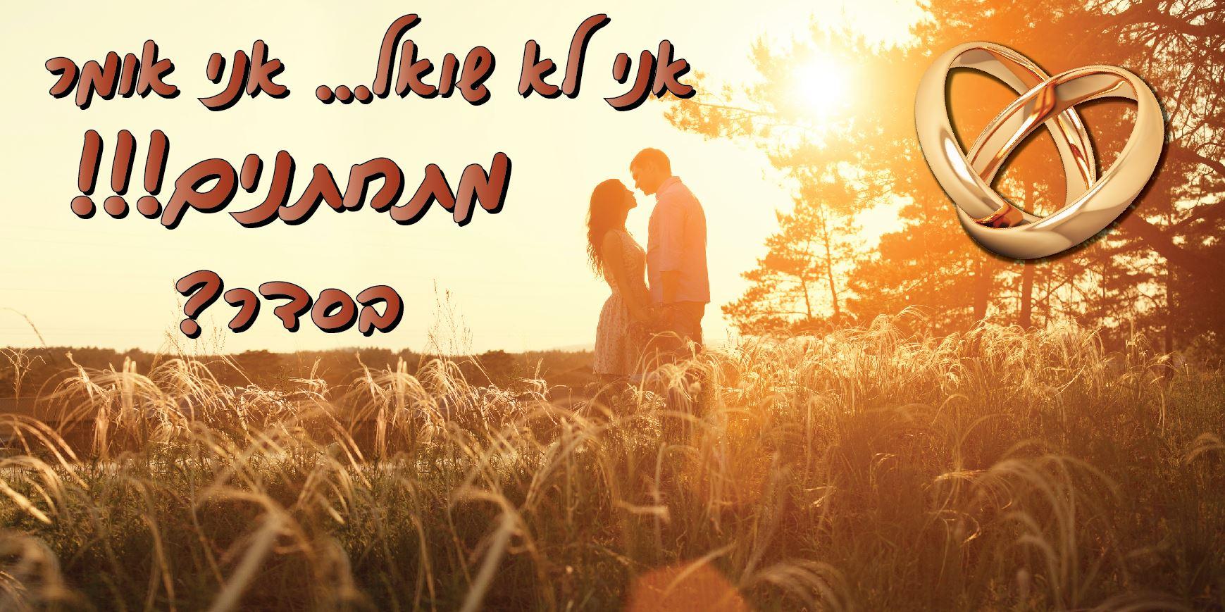 שלט הצעת נישואין 1 מ' על 2 מ' U5007