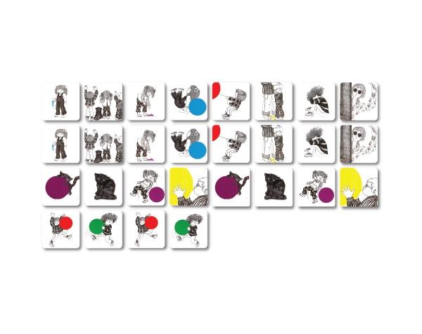 משחק זיכרון מעשה בחמישה בלונים