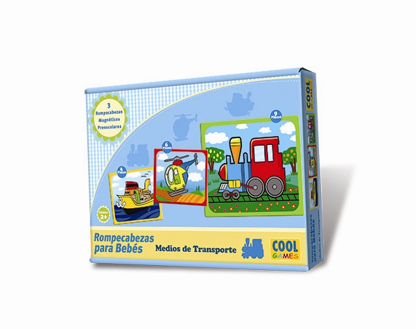 Rompecabezas para Bebés - Medios de Transporte