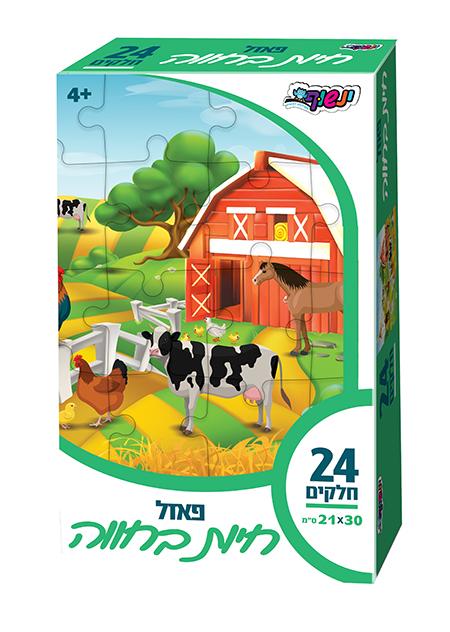 פאזל חיות בחווה