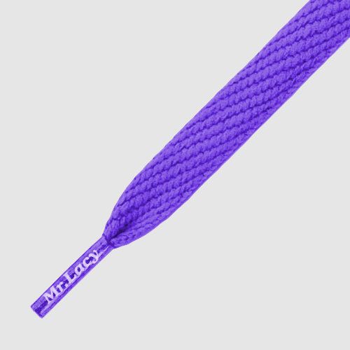 Flatties Purple - זוג שרוכים שטוחים בצבע סגול
