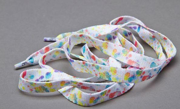 Printies Paint Splash - זוג שרוכים עם ההדפס כתמי צבע