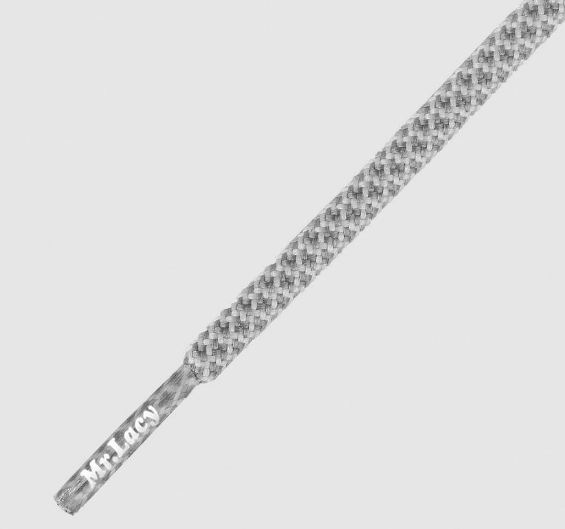 Ropies White Grey- זוג שרוכים חבל עגול אפור לבן