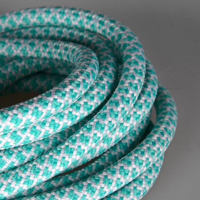 Ropies Mint Green White- זוג שרוכים חבל עגול ירוק מנטה לבן