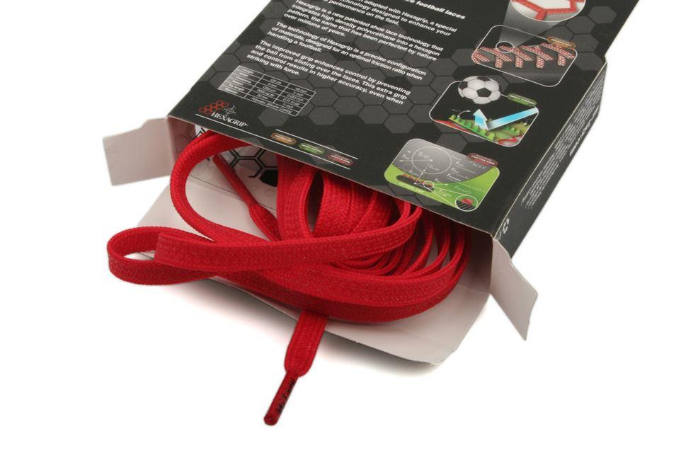 Goalies Red - זוג שרוכים לנעלי כדורגל בצבע אדום