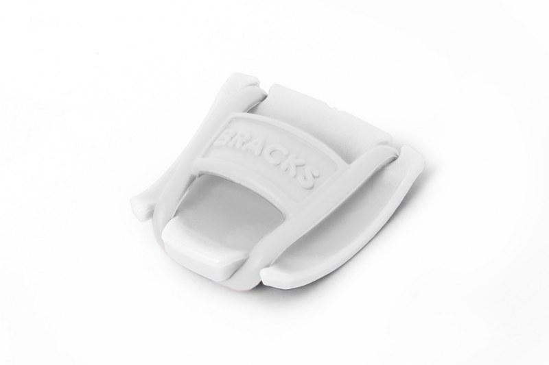 BRACKS זוג קליפ נעילה לשרוכים לבן לבן
