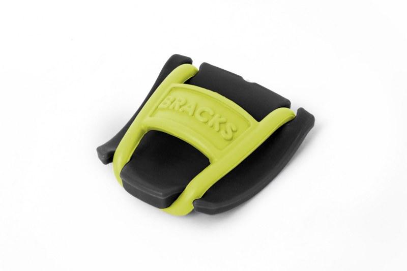 BRACKS זוג קליפ נעילה לשרוכים שחור צהוב