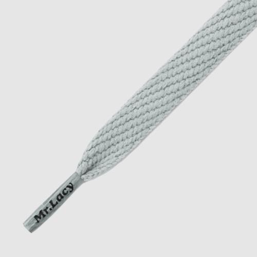 Flatties Grey- זוג שרוכים שטוחים בצבע אפור