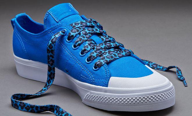 Printies Royal Blue Leopard - זוג שרוכים עם ההדפס המנומר כחול רויאל
