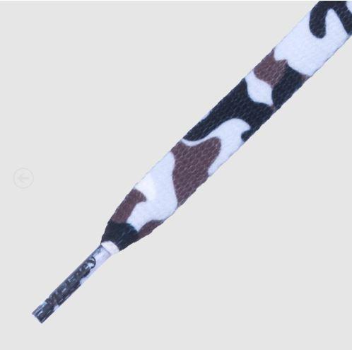 Printies White Camo - זוג שרוכים עם הדפס צבעי הסוואה לבן
