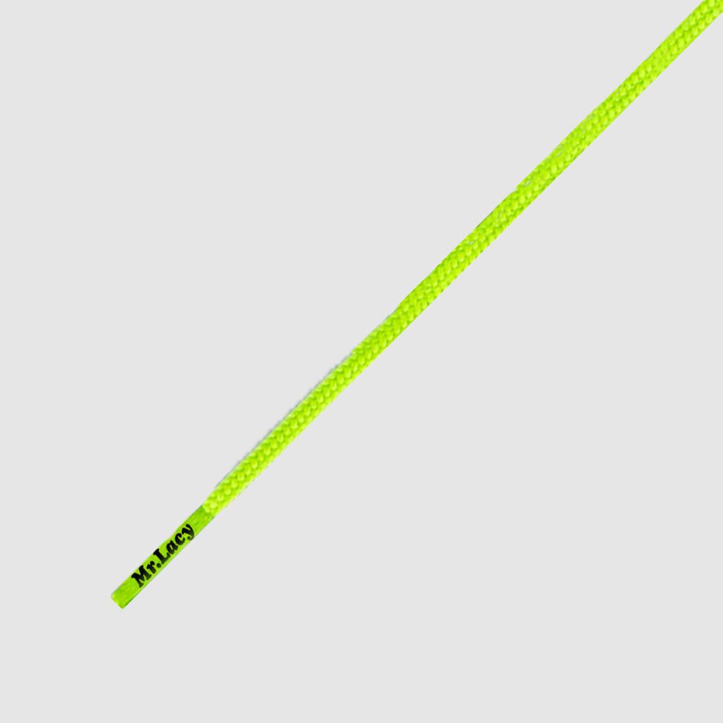 Runnies Round Neon Lime Yellow- זוג שרוכים עגולים דקים בצבע צהוב ניאון