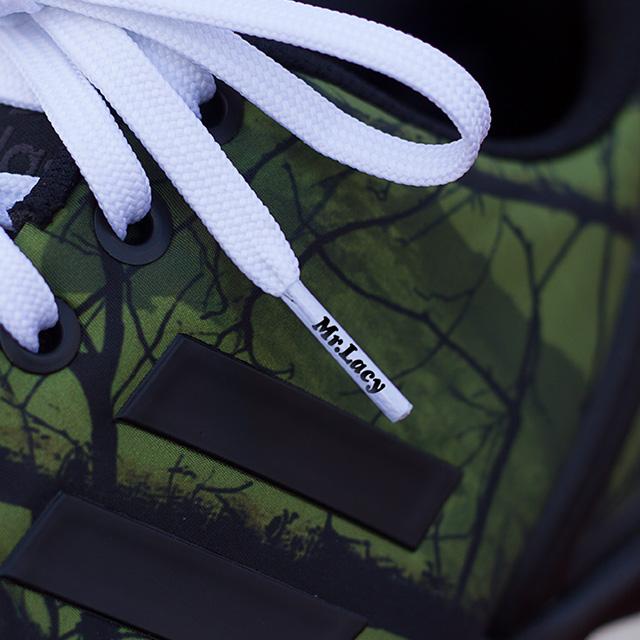 Runnies Flat White - זוג שרוכים שטוחים לנעלי ספורט בצבע לבן
