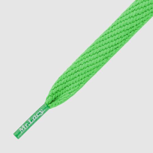 Flatties Kelly Green- זוג שרוכים שטוחים בצבע ירוק