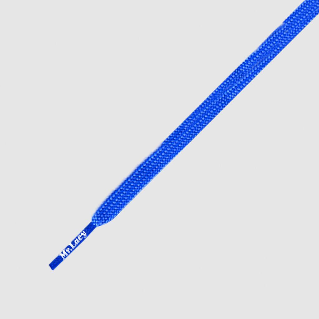 Runnies Flat Royal Blue - זוג שרוכים שטוחים לנעלי ספורט בצבע כחול רויאל