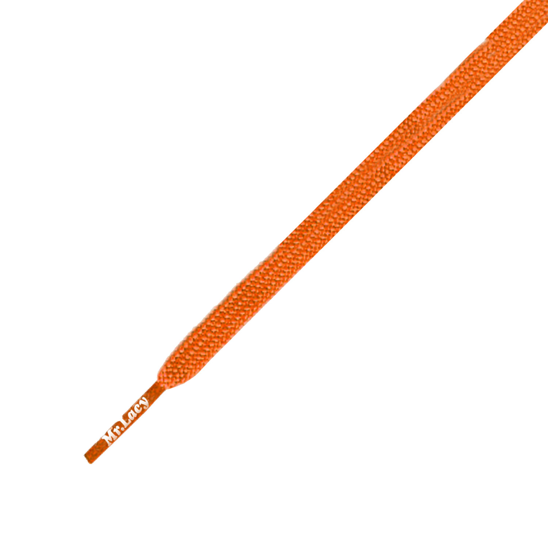 Runnies Flat Bright Orange - זוג שרוכים שטוחים לנעלי ספורט בצבע כתום