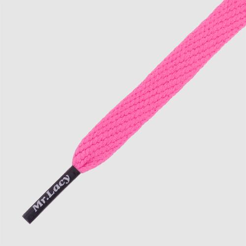 Flatties CT Lipstick Pink/Navy - זוג שרוכים שטוחים בצבע ורוד ליפסטיק עם אגלט כחול נייבי